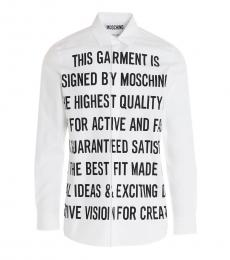White Slogan Group Shirt