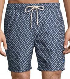 Tommy Bahama Dark Grey Naples Afish Solid Swim Trunks