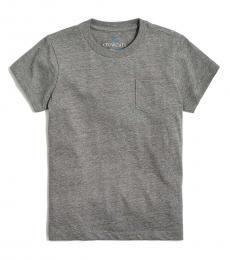 J.Crew Little Girls Heather Dolphin Pocket T-Shirt