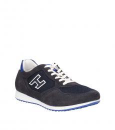 Hogan Blue Logo Classic Sneakers