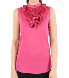 Emporio Armani Pink Turtle-Neck Top
