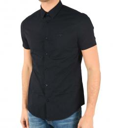 Armani Jeans Navy Blue Short Sleeve Shirt