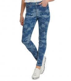 DKNY Sprng Camo Camo-Print High-Rise Skinny Jeans