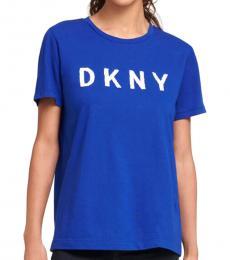 DKNY Royal Blue Sequin Logo Tee