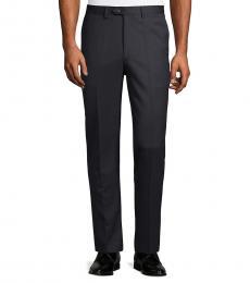 Calvin Klein Navy Blue Standard-Fit Pants