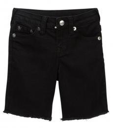 True Religion Little Boys Black Slim Single End Shorts