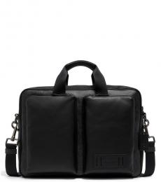 Coach Black Grey Rider Large Briefcase Bag