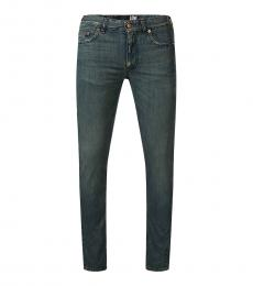 Love Moschino Dark Blue Figure Hugging Jeans