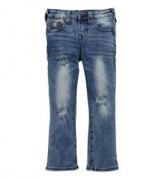 True Religion Little Girls Airbrush Blue Geno Slim-Fit Relaxed Jeans