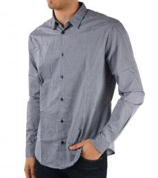 Armani Jeans Blue Pin Point Shirt