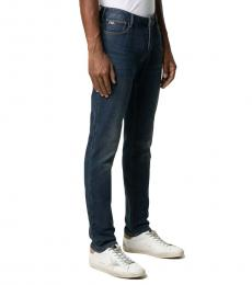 Emporio Armani Dark Blue Slim-Fit Jeans