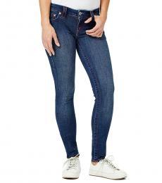 True Religion Downright Navy Stella Merica-Stitch Skinny Fit Jeans