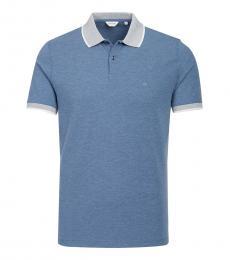 Calvin Klein Blue Front Logo Polo