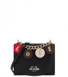 Love Moschino Black Love Charm Small Crossbody