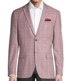 Ben Sherman Light Pink Plaid Jacket