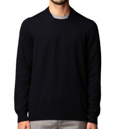 Fay Navy Blue Contrasting Detail Sweater