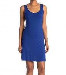 Calvin Klein Klein Blue Scoop Neck Mini Dress