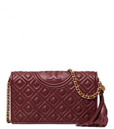 Tory Burch Cherry Fleming Quilted Small Crossbody Bag