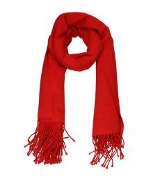 Alexander McQueen Red Wool Scarf