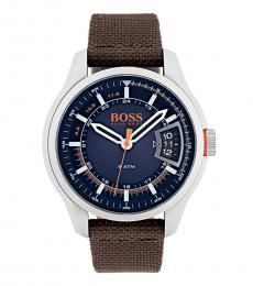 Hugo Boss Brown Sport Blue Dial Watch
