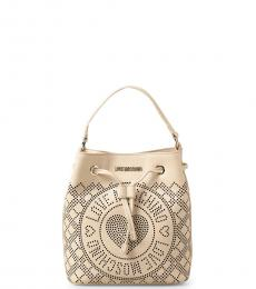 Love Moschino Off White Logo Mini Bucket Bag