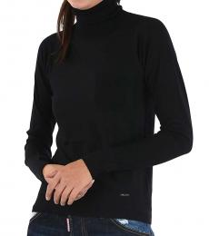 Dsquared2 Black Wool Turtle-Neck Sweater