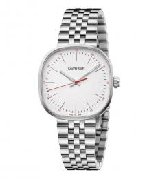 Silver Square Dial Watch