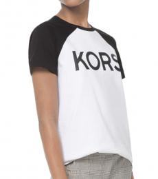 Michael Kors White Logo Cotton-Jersey Tee