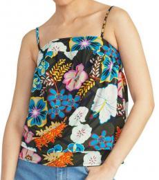 Rachel Roy Multi color Printed Tiered Camisole Top