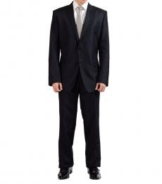 Grey Wool Silk Two Button Suit