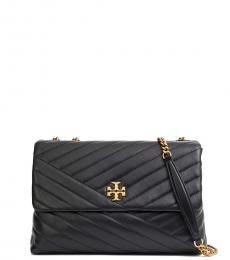 Tory Burch Black Kira Convertible Medium Shoulder Bag
