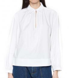 White Baloon Sleeves Shirt