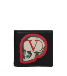 Valentino Garavani Black Under Cover Wallet
