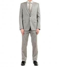 Versace Collection Light Grey Two Button Suit