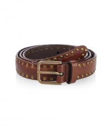 Brown Rivets Belt