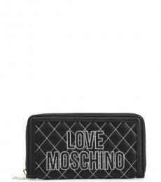 Love Moschino Black Cross Sticth Wallet