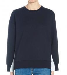 Navy Blue Logo Bands Sweatshirt