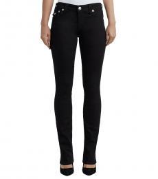 Black Crystal Embellished Straight Jeans