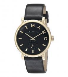 Marc Jacobs Black Baker Logo Watch