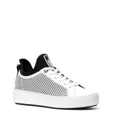 White Black Ace Mesh Sneakers