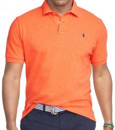 Ralph Lauren College Orange Classic Fit Logo Polo