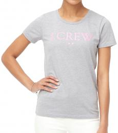 J.Crew Light Grey Logo Tee