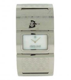 Silver Pavon Rectangle Watch