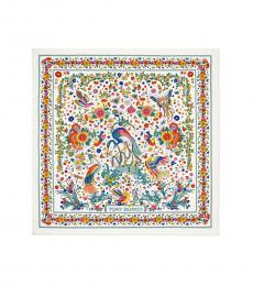 Tory Burch Multi Printed Silk Square Scarf