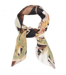 Vince Camuto Brown Brushy Blooms Scarf