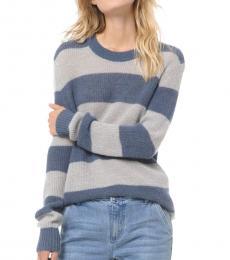 Blue Striped Alpaca Sweater