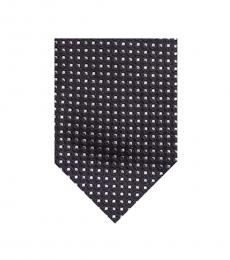 Moschino Black Traditional Dot Tie