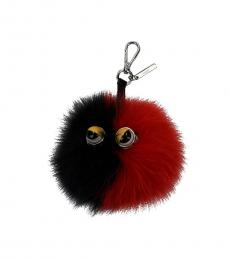 Fendi Red Two Tone Studs Pendant Charm