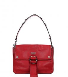 Moschino Red Vintage Medium Shoulder Bag