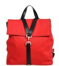 Valentino Garavani Red Strap Medium Backpack